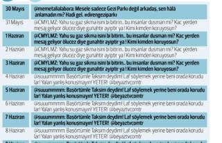 GEZİ PARKI EYLEMLERİNDE SOSYAL MEDYANIN KARNESİ...