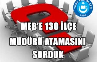 130 İLÇE MİLLİ EĞİTİM MÜDÜRÜ NEYE GÖRE...