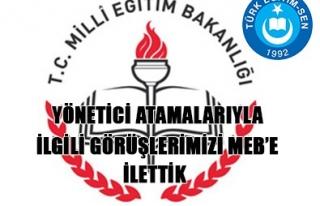 TÜRK EĞİTİM SEN YÖNETİCİ ATAMA İLE İLGİLİ...