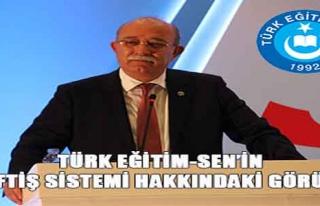TÜRK EĞİTİM-SEN'İN TEFTİŞ SİSTEMİ HAKKINDAKİ...