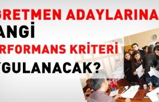 ÖĞRETMEN ADAYLARINA HANGİ PERFORMANS KRİTERLERİ...