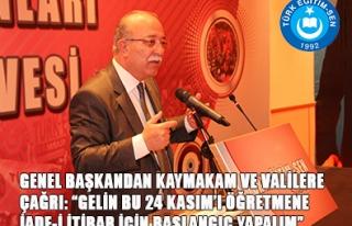 """""""24 KASIM'I ÖĞRETMENE İADE-İ İTİBAR İÇİN..."""