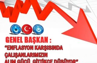 'ENFLASYON KARŞISINDA ÇALIŞANLARIMIZIN ALIM GÜCÜ...