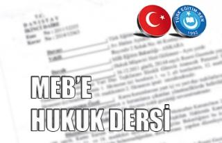 MEB'E HUKUK DERSİ