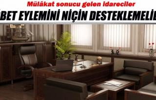 MÜLAKAT SONUCU GELEN İDARECİLER NÖBET EYLEMİNİ...