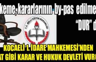 MAHKEME,KARARLARININ BY-PAS EDİLMESİNE 'DUR' DEDİ