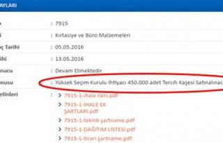 YSK'NIN 'TERCİH' KAŞESİ İHALESİ SOSYAL MEDYAYI...