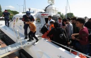121 kaçak göçmen yakalandı