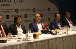 HAK-İŞ Genel Başkanı Arslan, basın mensuplarıyla...