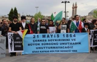Sivas'ta 'Çerkes Sürgünü' protesto...