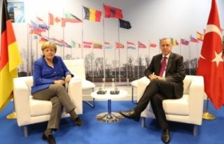 Başkan Erdoğan, Almanya Başbakanı Merkel İle...
