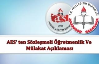 AES' Ten Sözleşmeli Öğretmenlik ve Mülakat...