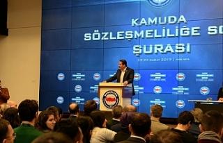 """Kamuda Sözleşmeliliğe Son Şurası""""nın Sonuç..."""