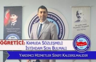 Öğretici: Kamuda Sözleşmeli İstihdam Son Bulmalı...