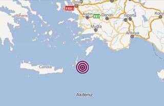 Akdeniz'de 4 Büyüklüğünde Deprem Meydana...