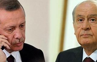 Cumhurbaşkanı Erdoğan'dan Bahçeli'ye...
