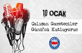 Memur-Sen'den: 10 Ocak Çalışan Gazeteciler...