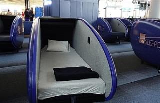 İstanbul Havalimanı'nda Uyku Kabini Uygulaması...
