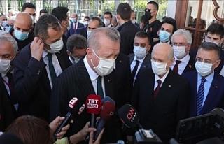 Cumhurbaşkanı Erdoğan İle Bahçeli, Fatih Sultan...