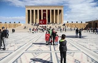 Vatandaşlar Cumhuriyet Bayramı Coşkusunu Anıtkabir'de...