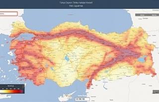 Türkiye Deprem Tehlike Haritaları E-Devlet'te