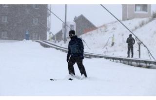 Kayak Merkezlerine Kar Müjdesi