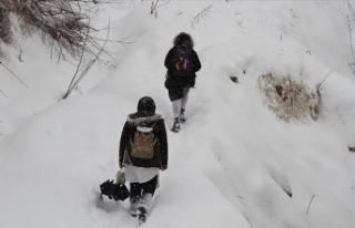 8 İlde Yüz Yüze Eğitime Kar Engeli