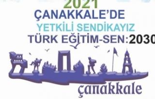 Çanakkale'de Türk Eğitim-Sen Damgası