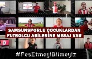 Samsunsporlu Çocuklardan Futbolcu Abilerine Mesaj...