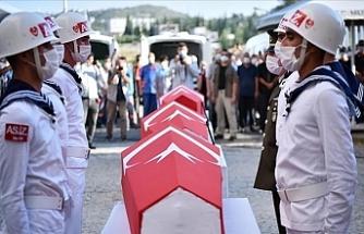 Mersin'de Şehit Olan 4 Asker İçin Tören