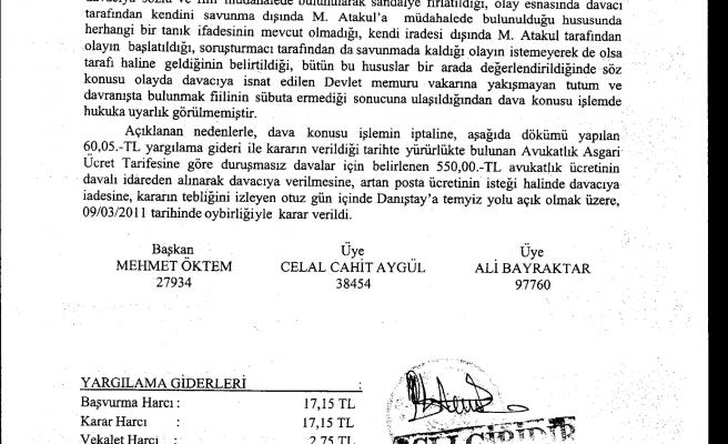 MEMURA 'UYARMA' CEZASINDA İLK İPTAL KARARI ÇIKTI