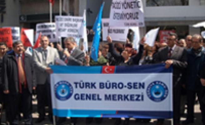 İŞKUR'DAKİ TACİZ PROTESTO EDİLDİ