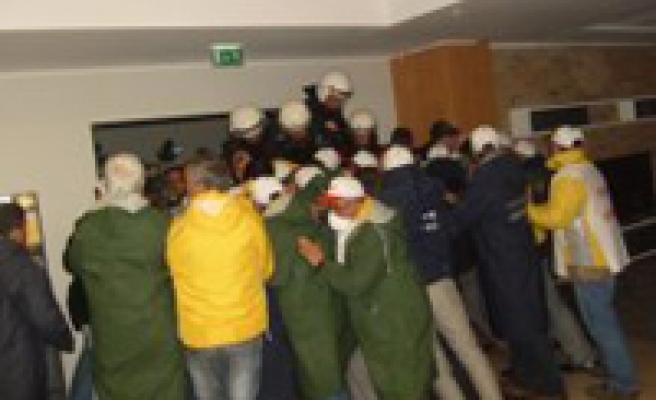Samsun BAT işçilerine polis saldırısı