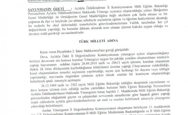 DİYARBAKIR'DA AYLIKLA ÖDÜLLER İPTAL EDİLDİ