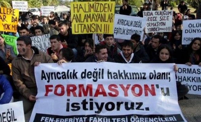 Üniversitelilerden pedagojik formasyon haklarının iadesi için eylem