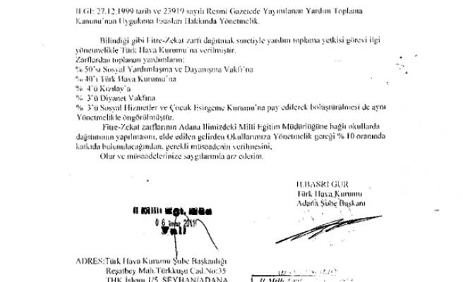 Okular Tatil Ama Fitre Ve Zekât Zarfı Dağıtılacak