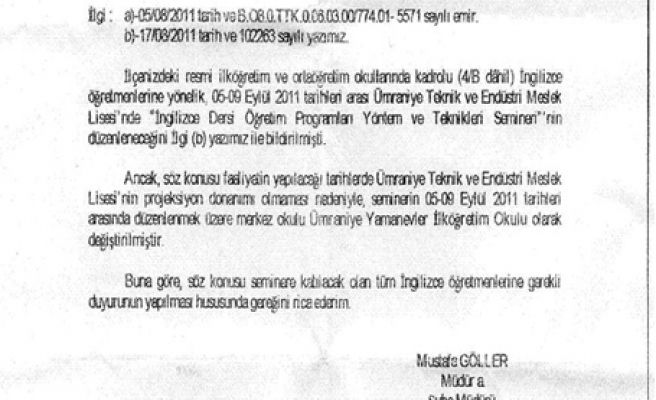 İstanbul MEM'den Skandal itiraf !