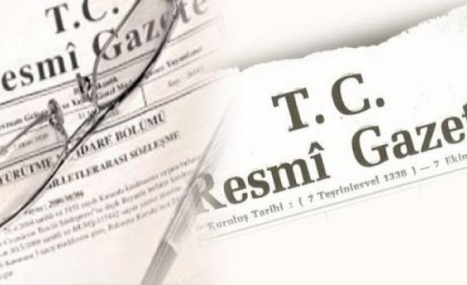 30 MAYIS TARİHLİ RESMİ GAZETE