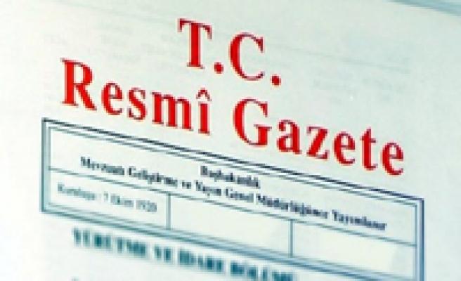 19 Temmuz 2013 Tarihli Resmî Gazete