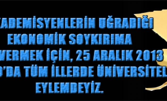 TÜRK EĞİTİM SEN  25 ARALIK'TA ÜNİVERSİTELERDE EŞ ZAMANLI EYLEM YAPACAK