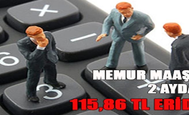 MEMUR MAAŞI 2 AYDA 115,86 TL ERİDİ