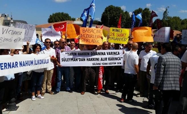 TÜRKİYE GENELİNDE, OKUL MÜDÜRÜ ATAMALARI  PROTESTO EDİLDİ ...