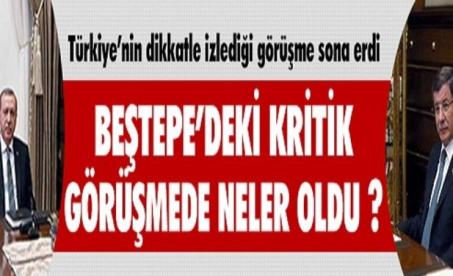 KRİTİK GÖRÜŞME SONA ERDİ !