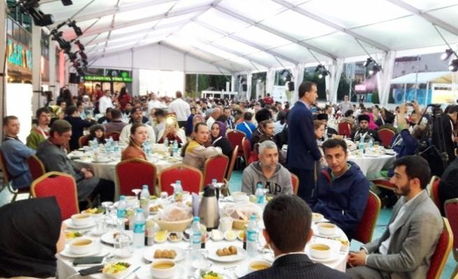6. Uluslararası Fetih Kupası Okçuluk Müsabakaları için iftar programı düzenlendi
