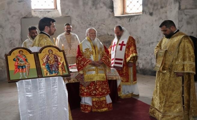 Fener Rum Patriği Bartholomeos Kapadokya'da Pazar ayinini yönetti