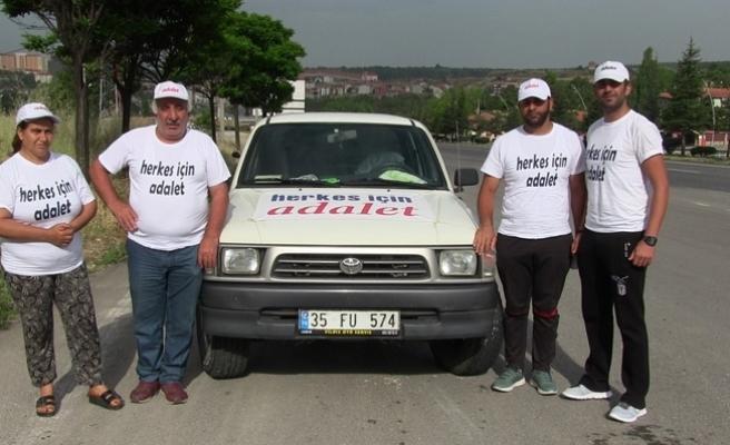 'Herkes İçin Adalet' sloganıyla yürüyen gençler Uşak'ta