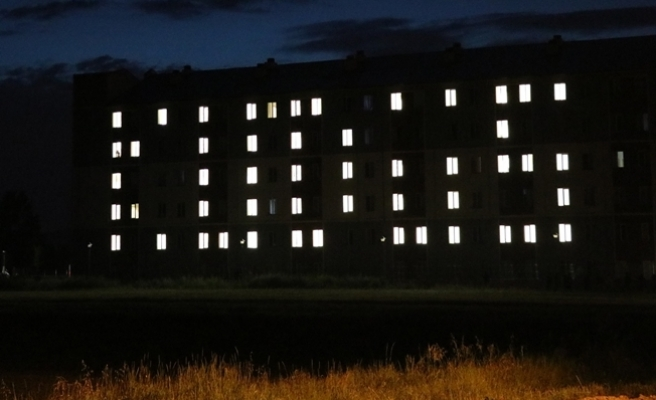 Öğrenciler yurdun ışıkları ile KUDÜS yazdılar