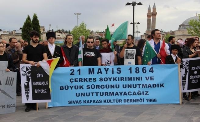 Sivas'ta 'Çerkes Sürgünü' protesto edildi