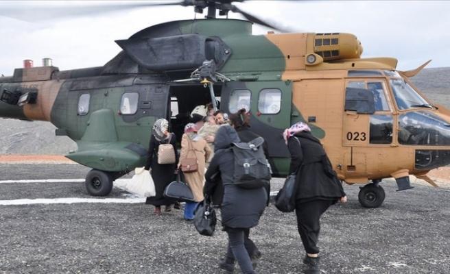 Siirt'te Oy Pusulaları Askeri Helikopterle Taşındı