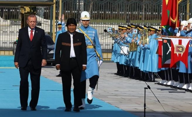 Bolivya Devlet Başkanı Juan Evo Morales Ayma'yı Resmi Törenle Ankara'da Karşılandı